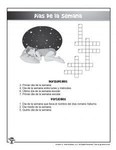 Printable Spanish Crossword Puzzle
