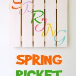 Spring Picket Fence Decor
