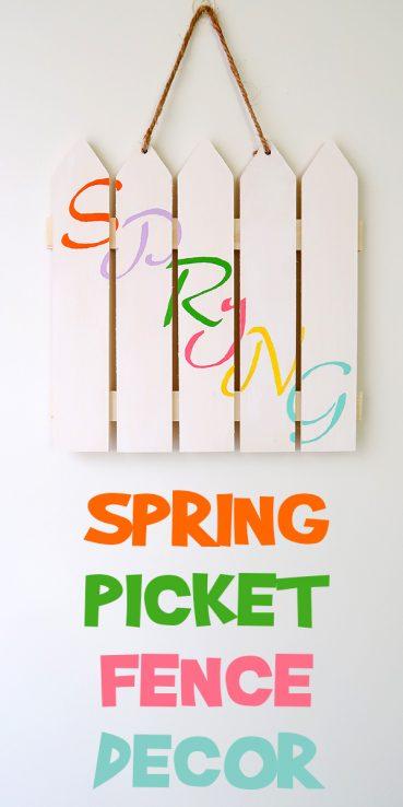 Spring Picket Fence Decor