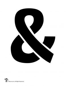 Ampersand Sign Stencil