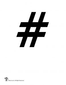 Hashtag / Pound Sign Stencil