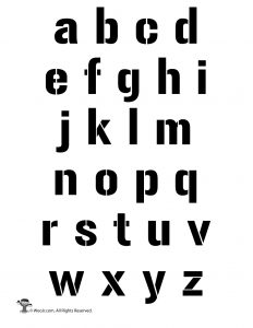Lowercase Alphabet Stencil Letter Set