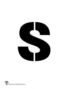 Lowercase s Stencil