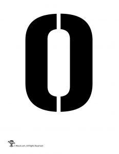 Number Stencil 0