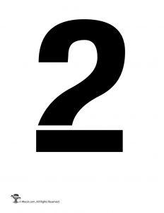 Number Stencil 2