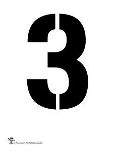 Number Stencil 3