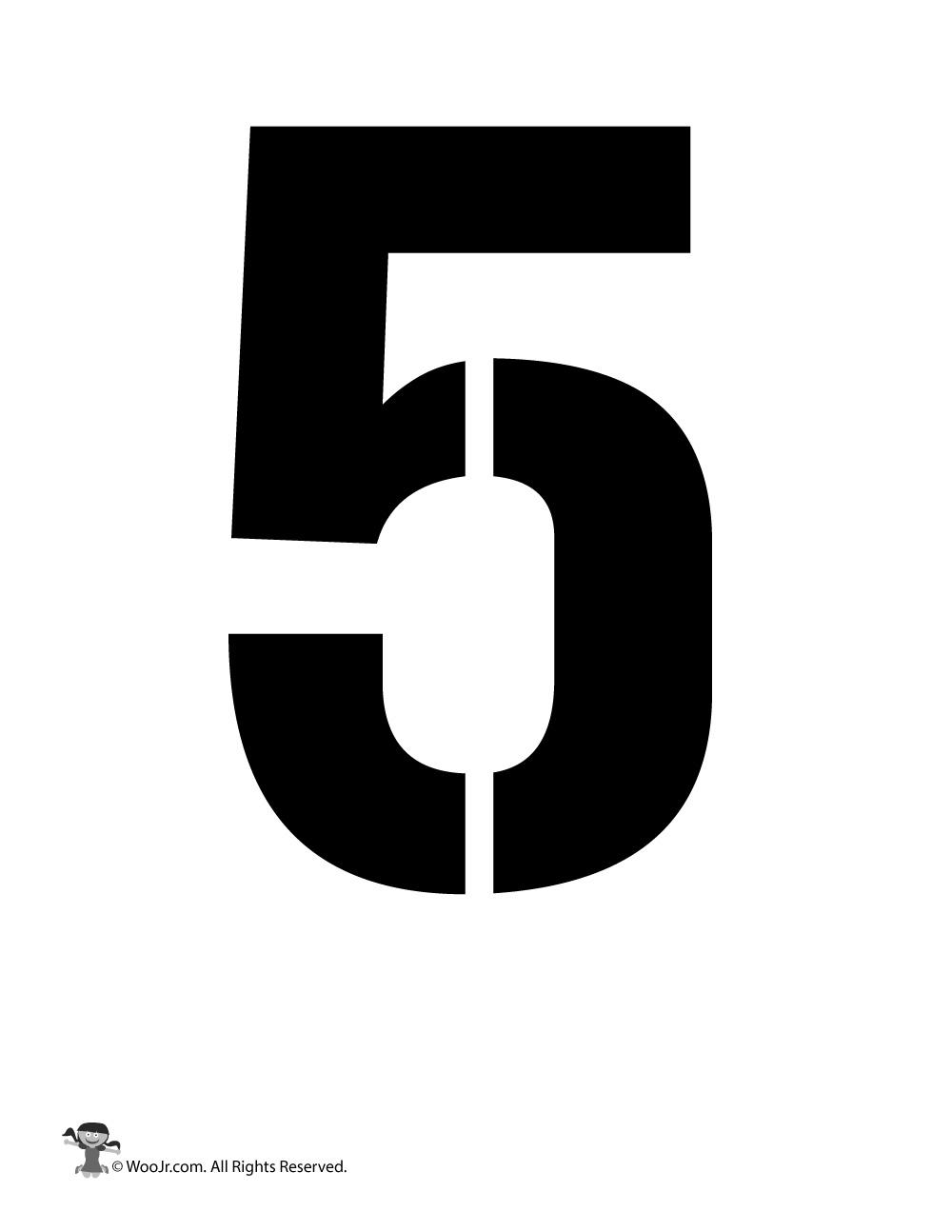 Number Stencil 5