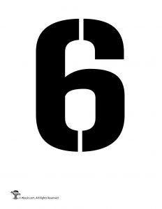 Number Stencil 6