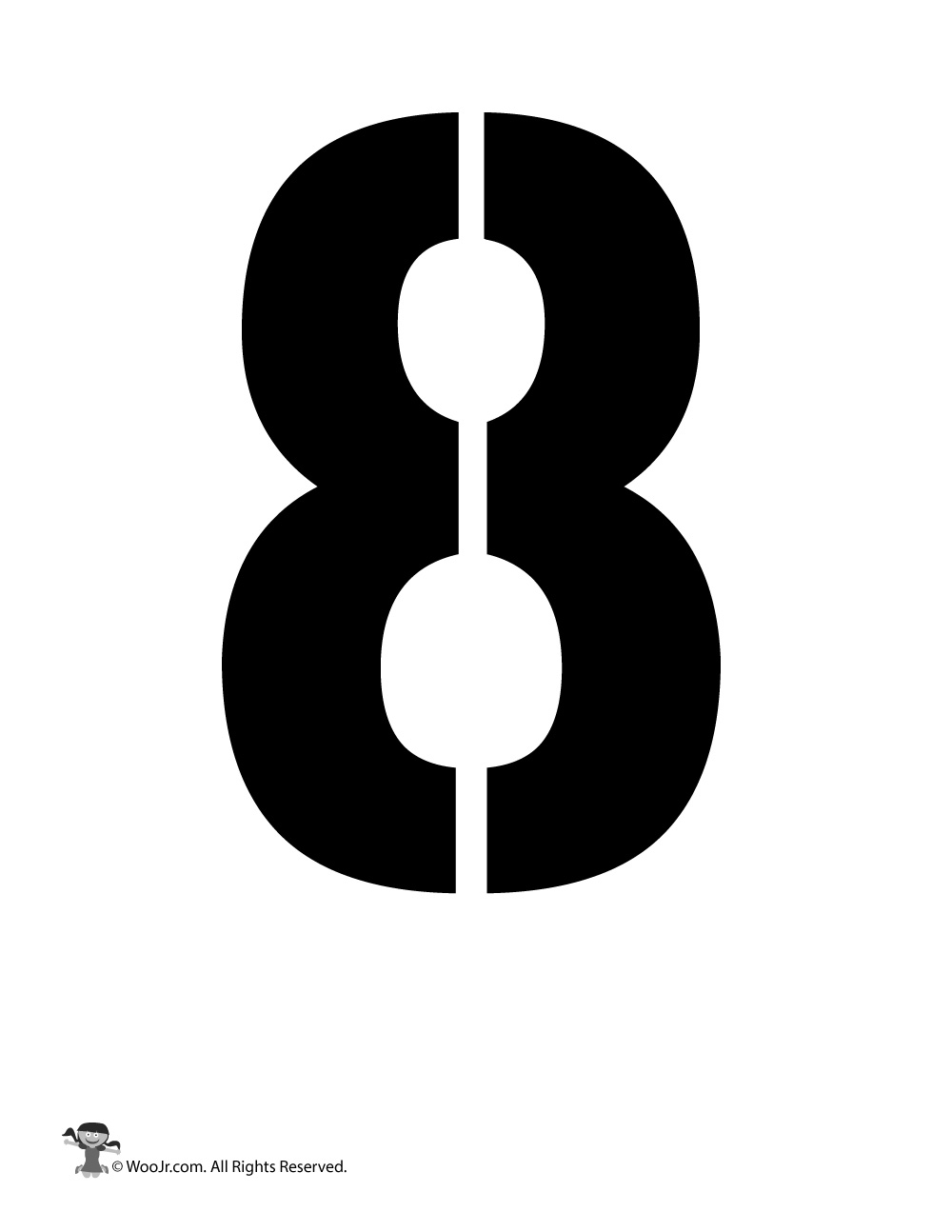 Number Stencil 8 Woo Jr Kids Activities