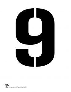 Number Stencil 9