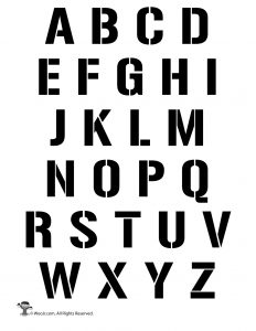 photo regarding Printable Font Stencils known as Printable Alphabet Letter Stencils Woo! Jr. Little ones Actions