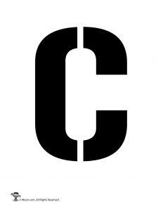 Uppercase C Stencil
