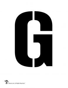 Uppercase G Stencil