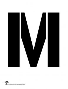 Uppercase M Stencil