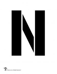 Uppercase N Stencil