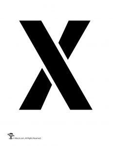 Uppercase X Stencil