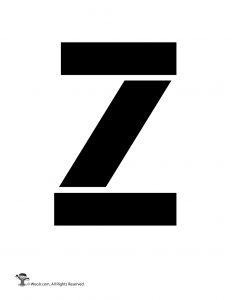 Uppercase Z Stencil