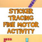 Sticker Tracing Fine Motor Activity