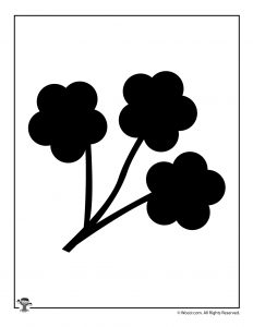 Wildflowers Printable Craft Template