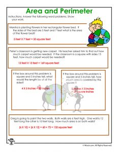 area and perimeter word problem worksheets for earth day woo jr kids activities. Black Bedroom Furniture Sets. Home Design Ideas