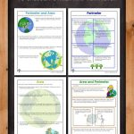 Area and Perimeter Word Problem Worksheets for Earth Day