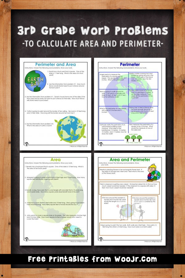 3rd Grade Word Problems To Calculate Area And Perimeter: Area Word Problems Worksheets At Alzheimers-prions.com