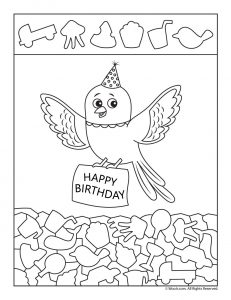 Happy Birthday Hidden Picture Printable