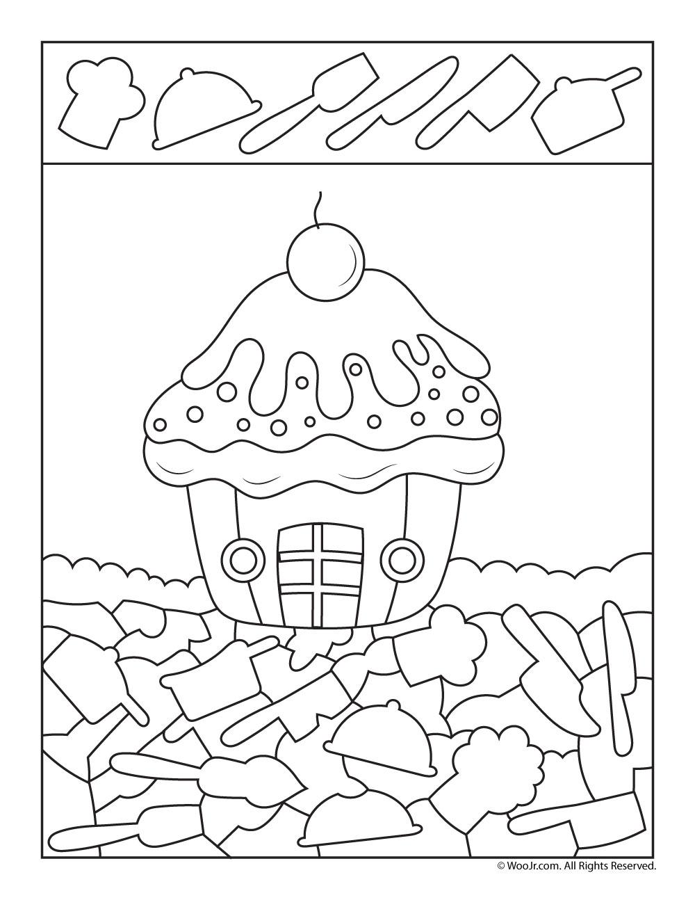 Birthday Cupcake I Spy | Woo! Jr. Kids Activities