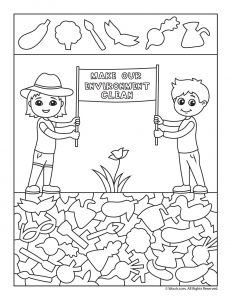 Clean Environment Hidden Picture Worksheet