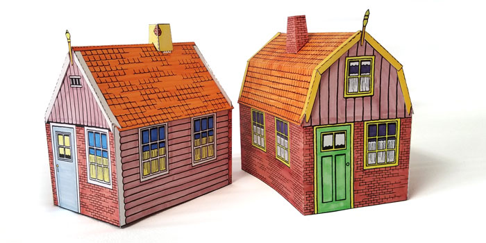 Paper Model Dutch Houses