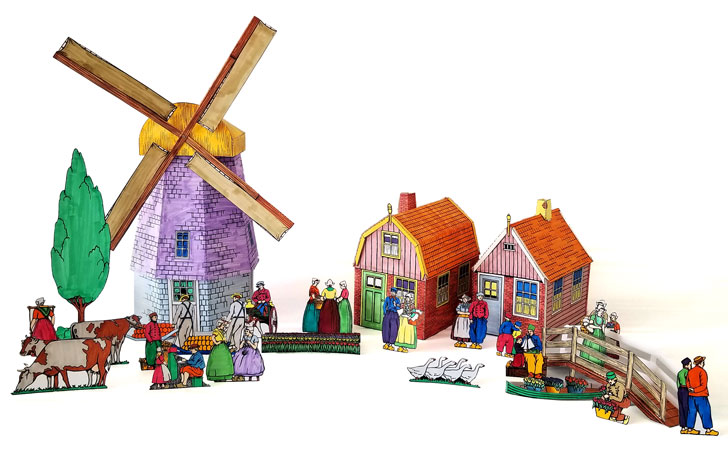 Entire Printable Paper Craft Historic Model Dutch Village