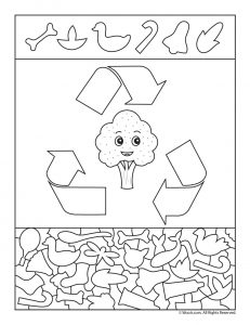 Please Recycle Preschool Activity Page