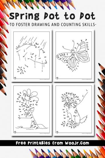 Printable Spring Dot to Dot Activity Pages