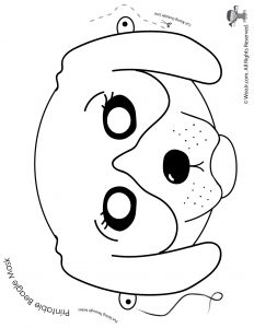 Beagle Mask - Coloring Page