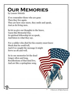 Our Memories Poem for Memorial Day