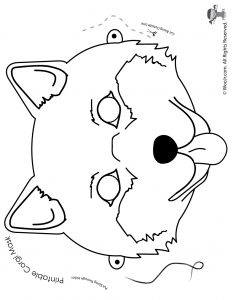 Corgi Mask - Coloring Page