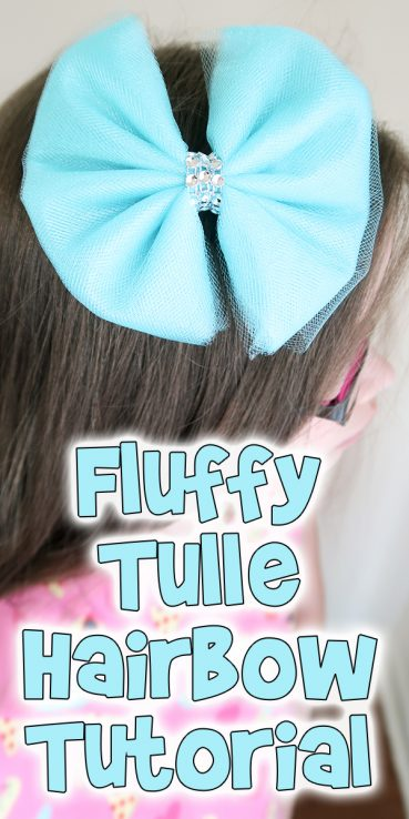 Fluffy Tulle Hairbow Tutorial
