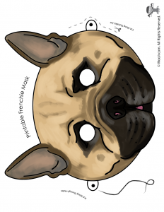 French Bulldog Mask - Full Color