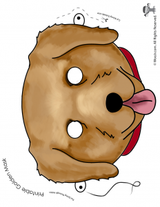Golden Retriever Mask - Full Color