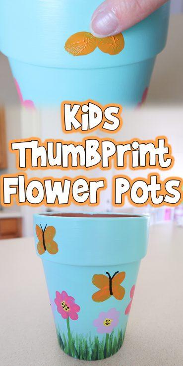 Kids Thumbprint Flower Pots