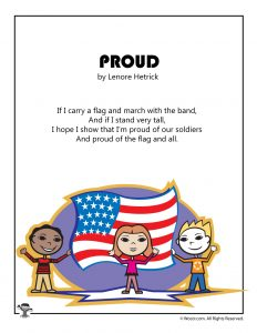Proud Memorial Day Kids Poem