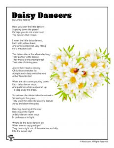 Daisy Dancers Children's Poem Printable