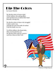 Dip the Colors Serious Memorial Day Poem for Kids