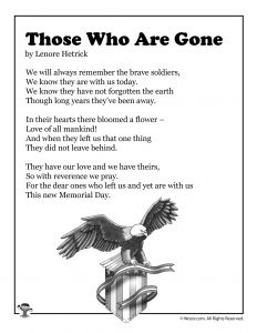 Those Who Are Gone Children's Poetry for Memorial Day