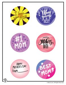 Mother's Day Button Art