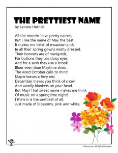 The PRettiest Name May Poetry for Children