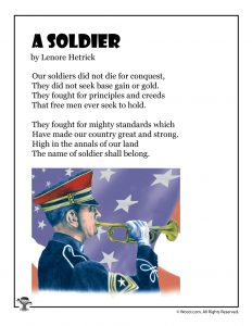 A Soldier Memorial Day Poem for Kids