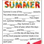 Summer Mad Libs