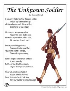 The Unknown Soldier Poem for Memorial Day