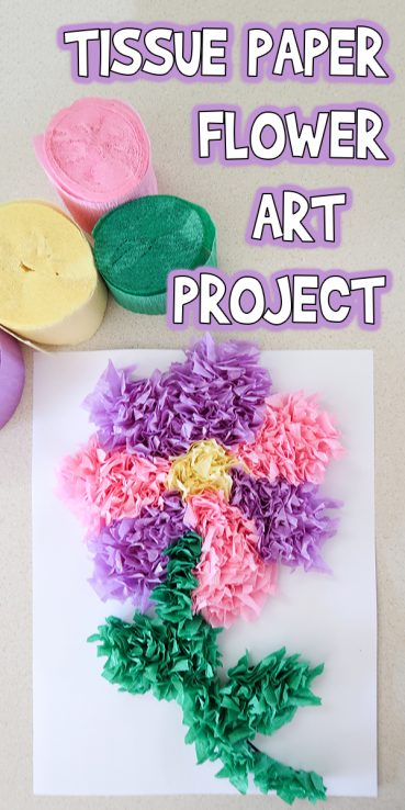 Tissue Paper Flower Art Project